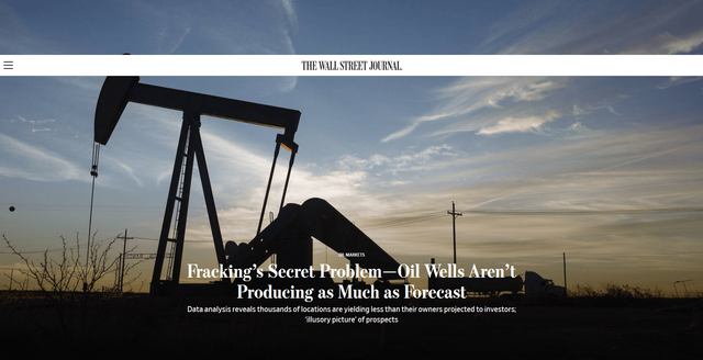 Fracking's Secret Problem—Oil Wells Aren't Producing as Much