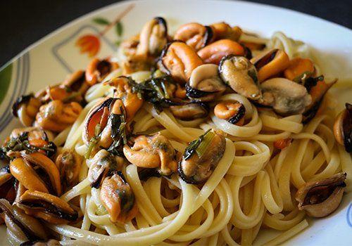 Linguine con le cozze a Rimini