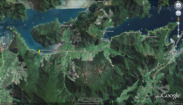 Marlborough Timbers Ltd google earth location