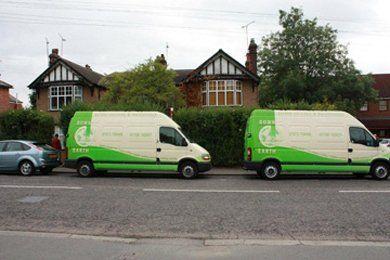 Garden maintenance - Hornchurch - Down 2 Earth Garden Services & Maintenance - Company vans