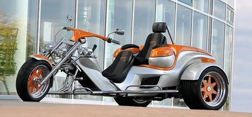 moto modello Rewaco due posti grigio e arancione