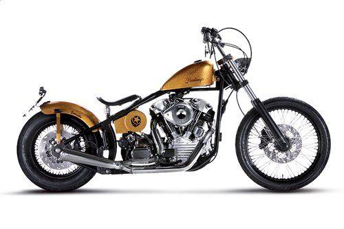 motocicletta Headbanger modello Summertime Golden Trip color oro