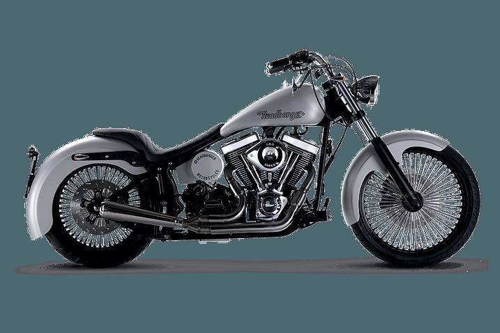 motocicletta Headbanger modello Foxy Lady color argento