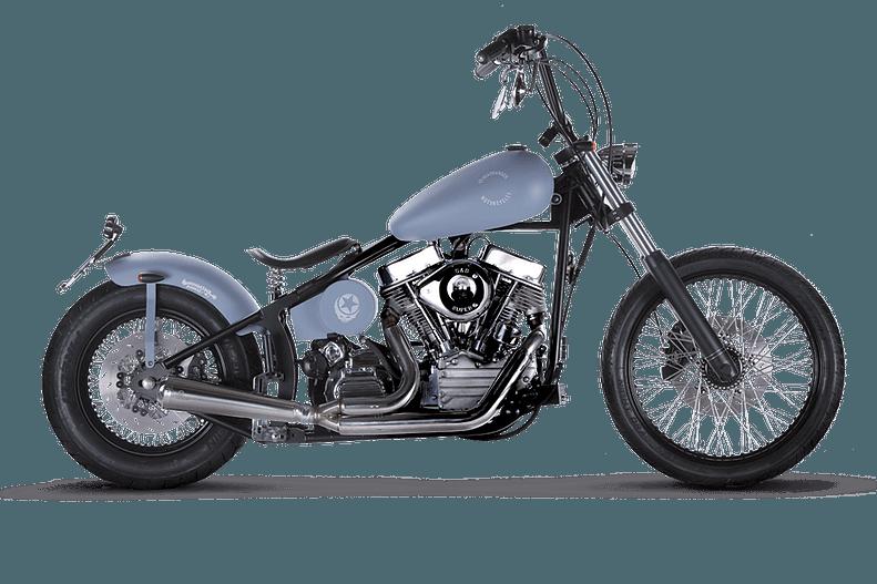 motocicletta Headbanger modello Woodstock Boogie Blue Velvet