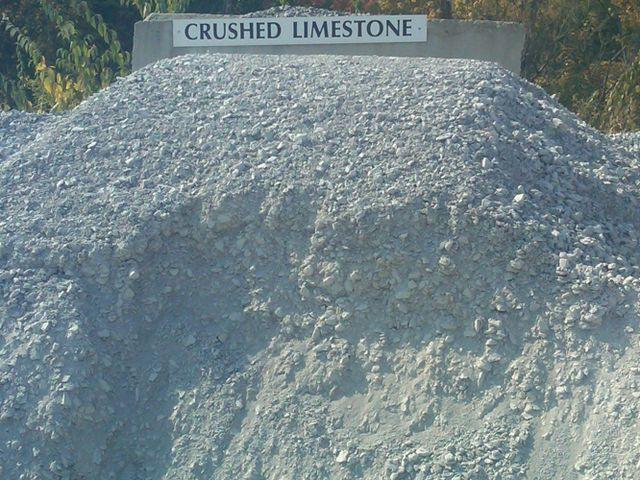 crushed limestone 411