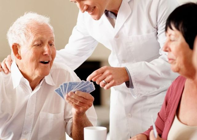 Playing cards in a nursing home