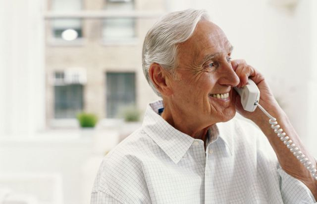 Man calling the residential nursing home in Auckland