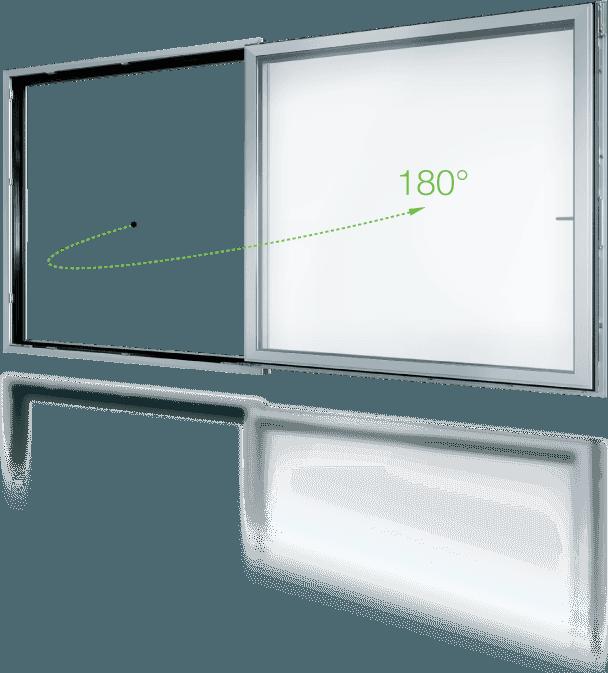 finestra in alluminio scorrevole