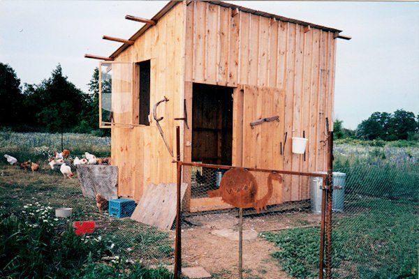chicken coop built with portable sawmill milled lumber