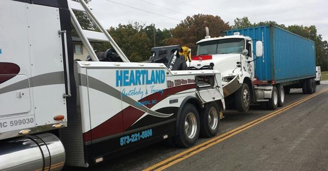 heavy duty towing services heartland towing hannibal