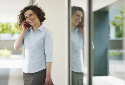 woman calling a office cleaning company in Porirua