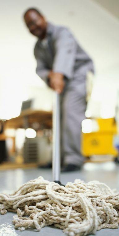 cleaning contractors at work in Porirua