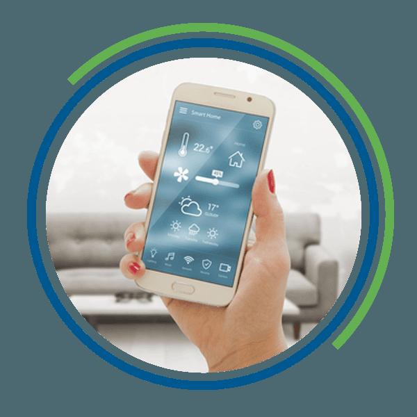 Smartphone con applicazione per regolazione della temperatura di casa