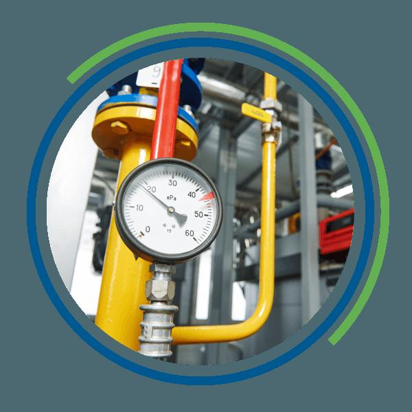 Un misuratore di pressione di un impianto industriale