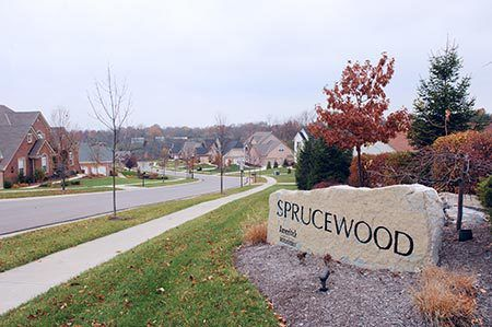 View of Sprucewood neighborhood in Cincinnati