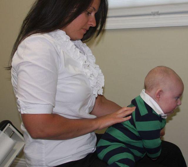 Dr. Eva Adjusts, baby chiropractic, baby adjustment