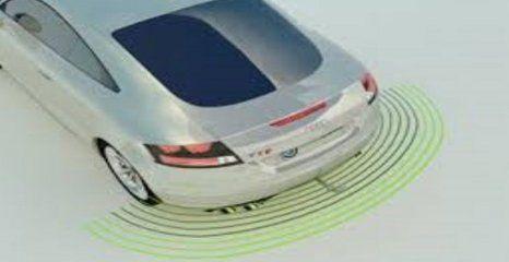 car parking sensor graphic