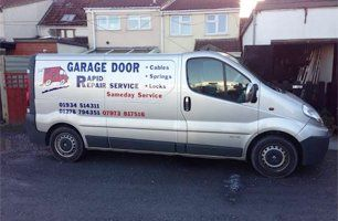 Garage Door Rapid Repair Service company van