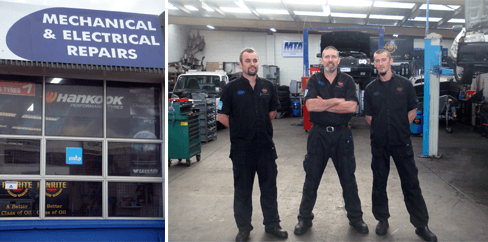 Couple driving in Auckland after motor repairs