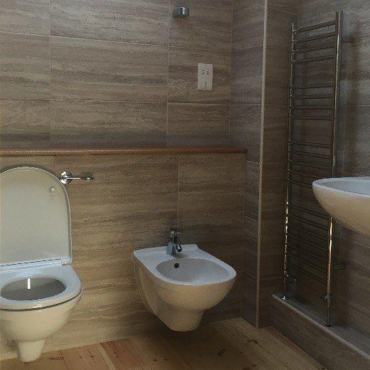 A shower room we built