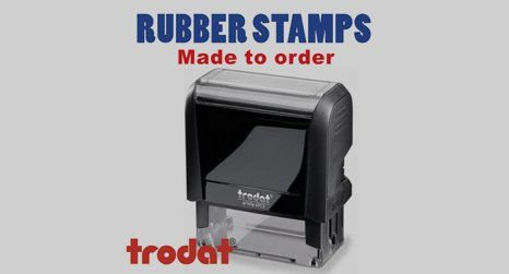 bespoke rubber stamps