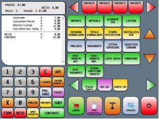 gestionale touch screen per casse