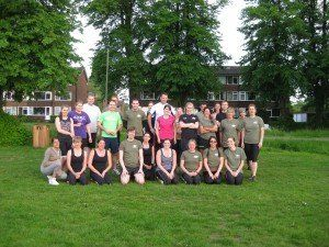 group of fitness trainees
