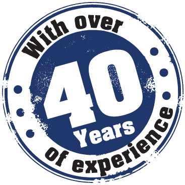 With over 40 years of experience
