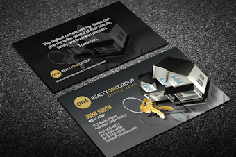 Realty One Group Business Card Templates Designed For Realty One