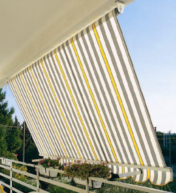 Erkélyekre tervezett árnyékolók