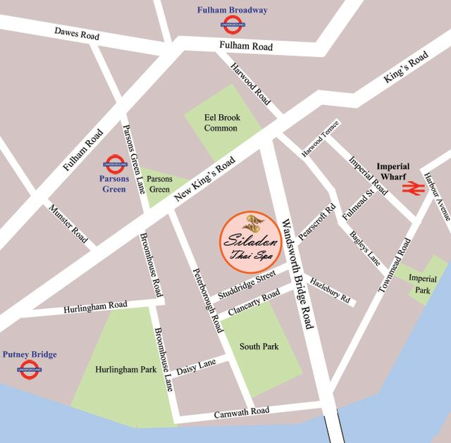 Siladon Thai Spa London Location - Where is london located