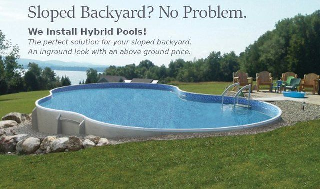 Metric Semi Inground Swimming Pool Backyard Leisure