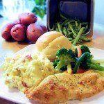garlic crusted chicken dinner @ training umbrella