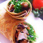 thai chicken lunch wrap @ training umbrella